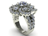 3d great diamond ring model