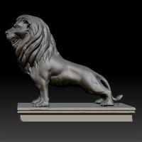 lion statue zbrush 3d 3ds