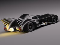 batmobile 1989 jet car 3ds
