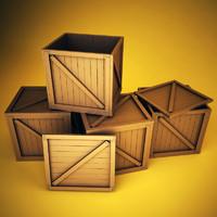 wooden boxes 3d model