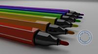3d felt pen