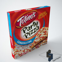 3d totino s combination pizza model