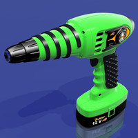 3d model of s hand drill