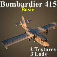 bombardier basic aircraft 3d model