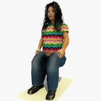 realistically seated african d 3d model