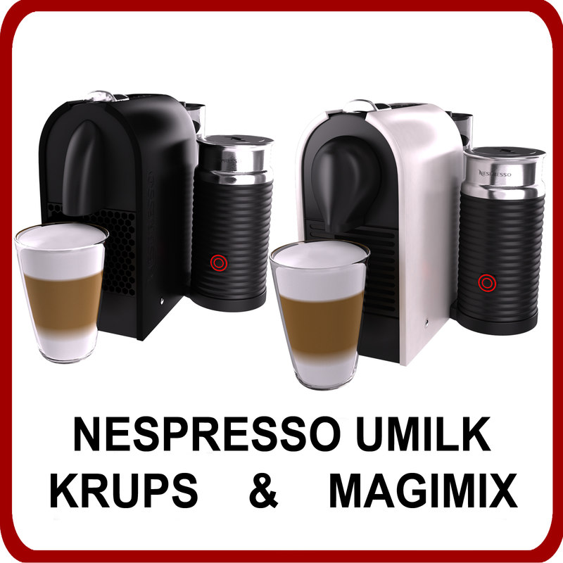 pack nespresso umilk krups 3ds. Black Bedroom Furniture Sets. Home Design Ideas