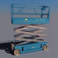 3d model scissor lift