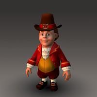 3d cartoonish character