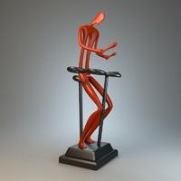 sculpture drummer 3d max