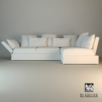 3d flexform sofa sunny model