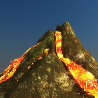 3ds max volcano v-ray scanline low-poly