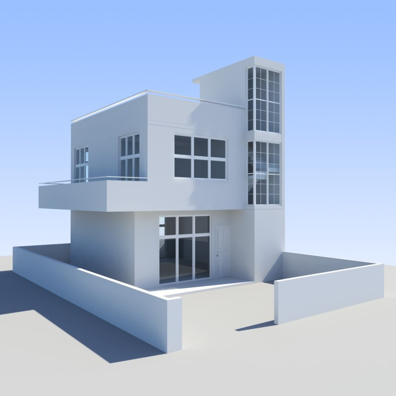 3d max house towns for Minimalist house 3d max