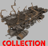 3d obj spaceships ship transport