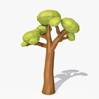 3d cartoon tree