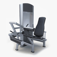 seated leg curl 3d 3ds