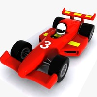 Cartoon Racing Car 1