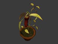 polygonal paprika plant 3d obj
