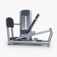 3d model seated leg press