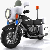 Cartoon Police Motorcycle