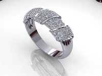 Pav Twif Handmand Diamond Ring
