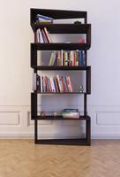bookcase 18 books 3d max