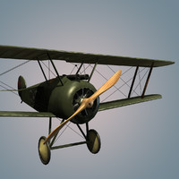 3d model sopwith f 1 camel fighter
