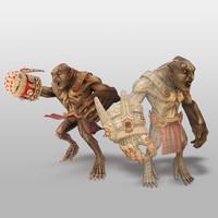 3d troll character