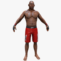 3d real-time ufc boxer