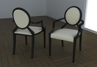 chair louis ghost 3d max