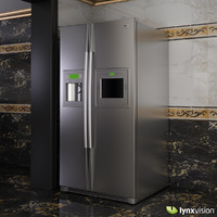 3d max side-by-side refrigerator lg