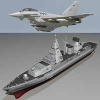 f-124 sachsen ef2000 typhoon 3d model