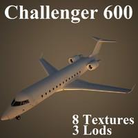 bombardier challenger 3d model