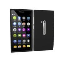 nokia n9 black 3d model