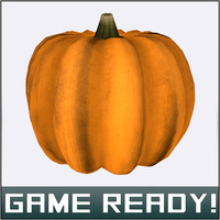 autumn pumpkin 5 3d model