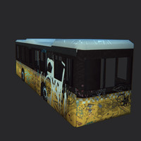 3d model wrecked city bus