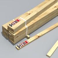 3d model shipment timber