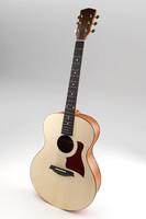 3d model acoustic guitar