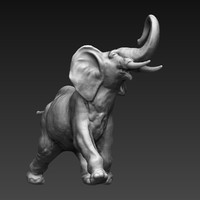maya elephant sculpture