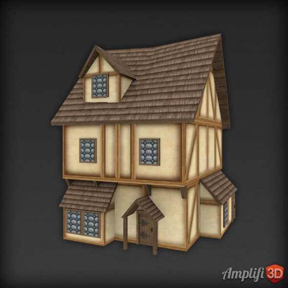 Low Poly Medieval House 05