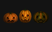 3d spooky pumpkins model