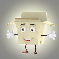 cartoon box obj