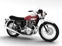 triumph t160 trident 1975 3d max