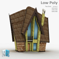 3d fantasy building model