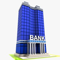 3d cartoon bank toon