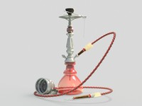 3d hookah turkish modeled