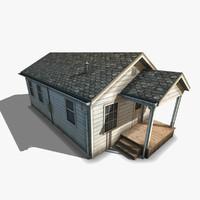 3d shotgun style house
