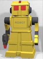 3d robot toy model