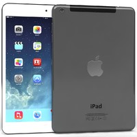 Apple iPad Air & Mini 2 Wi-Fi + Cellular Gray And White