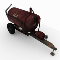 manure spreader 8k resolution 3d model