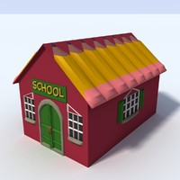 free 3ds model rural schoolhouse